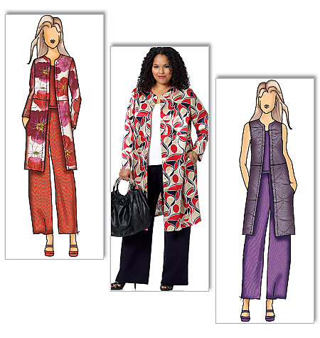 Butterick Pattern Misses' and Women's Jacket, Vest and Pants, Women (XXL, 1X, 2X, 3X, 4X, 5X, 6X)