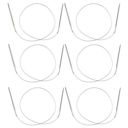 Circular Knitting Needles - 6-Count Size US 10 Knitting Needles, 40-Inch Stainless Steel Circular Knitting Needles Set, Size US 10 (6mm), 40