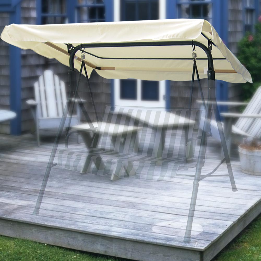 Yescom 75-3/4 x43-3/4  Outdoor Swing Cover Replacement Canopy Top for Porch Patio Garden Pool Seat Furniture - Walmart.com & Yescom 75-3/4