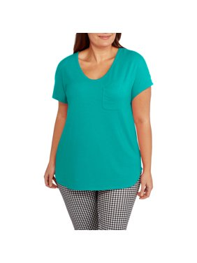05160dbf3ab28 Womens Plus Tops   T-Shirts - Walmart.com