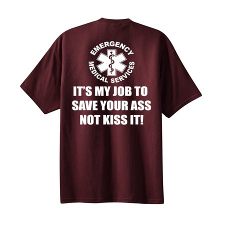 EMS My Job Adult T-shirt-athleticmaroon-large