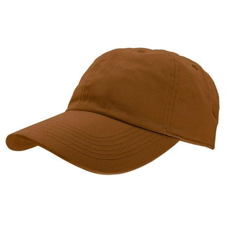 Copper Mens Accessories (Falari Baseball Cap Hat 100% Cotton Adjustable Size Copper)