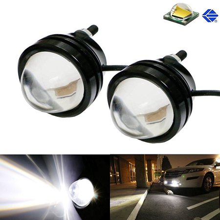 Ijdmtoy  2  Xenon White 5W Cree High Power Bull Eye Led Projector Lamps  Good For Parking Lights  Fog Lights  Driving Drl Lights Or Backup Reverse Lights