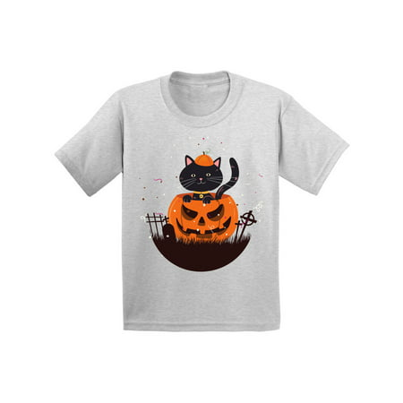 Rainbow Loom Halloween Cat (Awkward Styles Halloween T-Shirt Pumpkin Cat Kids T)