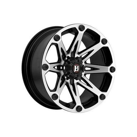 Ballistic Jester 814790550-12FBM 17x9 5x127 -12mm Offset Flat Black & Red Wheel