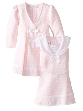Bonnie Jean Baby-Girls Houndstooth Coat and Dress Set (4T, Burgundy)