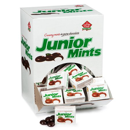 Junior Mints Mini Snack Packs: 72-Piece Box