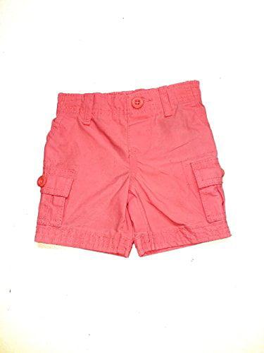 Carter's Baby Boys' Cargo Shorts, Neon Orange, 3 Months