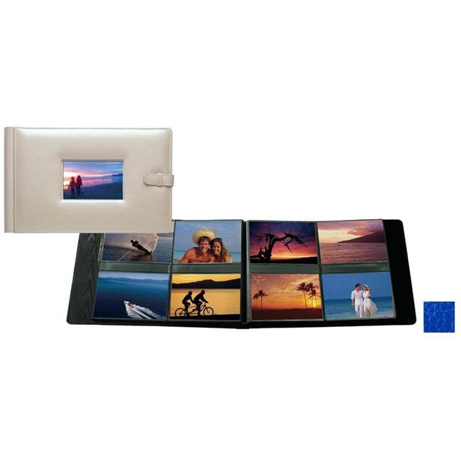 Raika RO 177 BLUE 4in. x 6in. Frame Album with 8 Photo - Blue