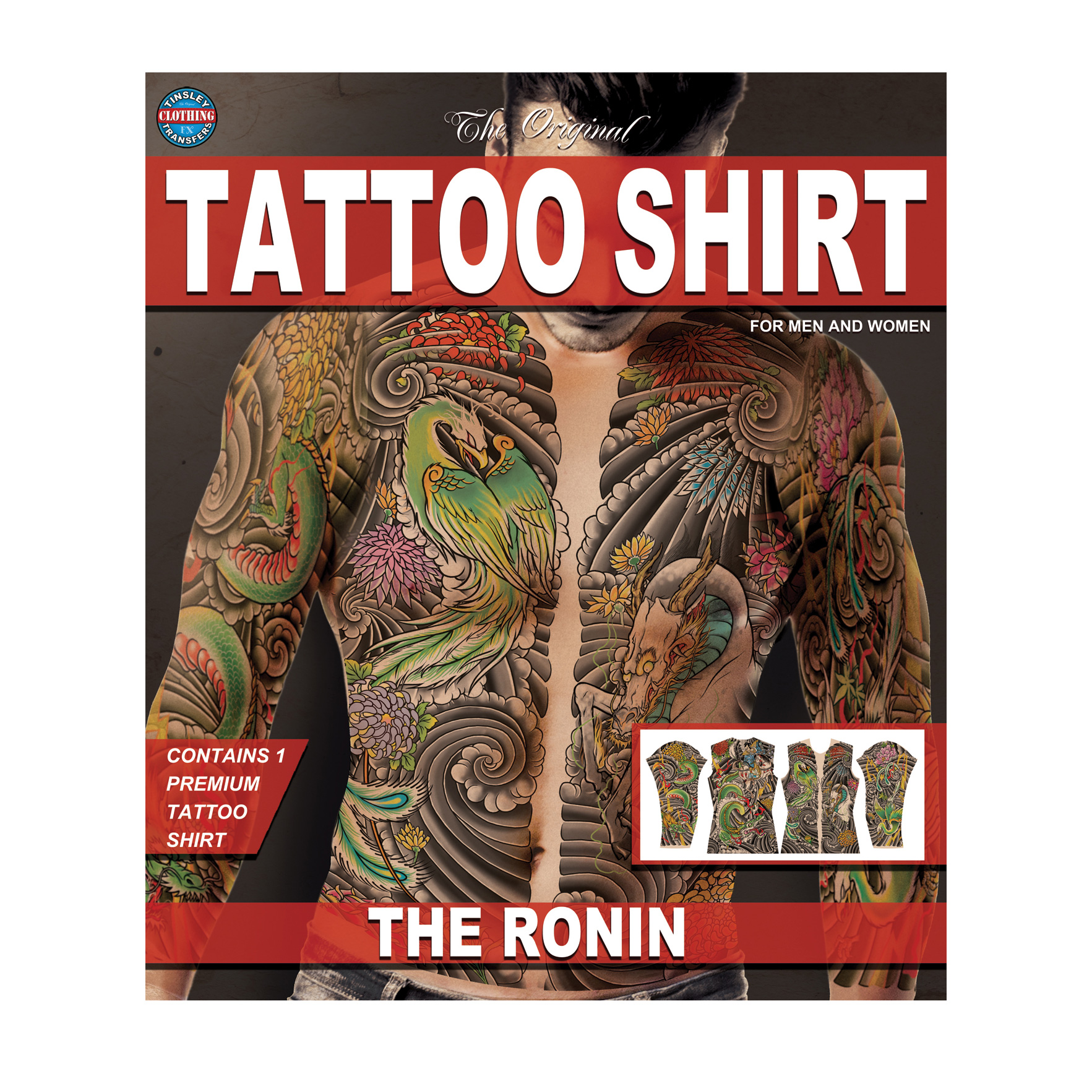 Tinsley Transfers The Ronin Tattoo FX Shirt, Large/X-Large