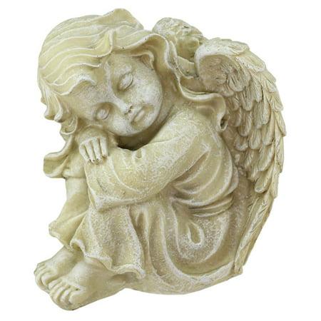 Northlight Heavenly Gardens Resting Distressed Cherub Angel Outdoor Garden Statue