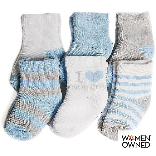 Child Of Mine By Carters Newborn Baby Boy Terry Crew Socks, 6 Pairs