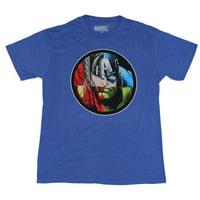 The Avengers Mens T-Shirt -  Thor Hulk Cap & Iron Man Circle Face Collage
