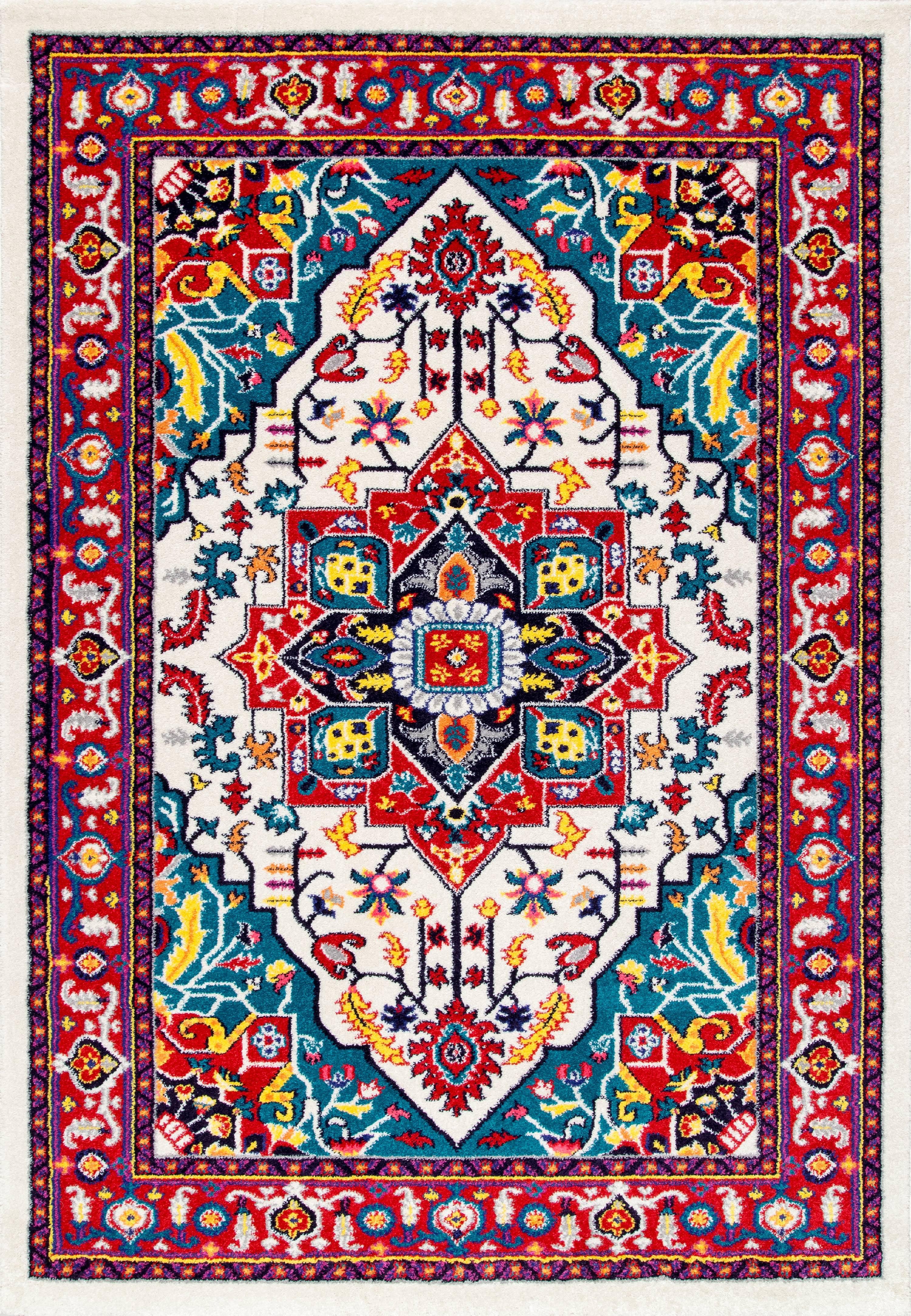 nuLOOM Persian Floral Elenor Area Rug or Runner by nuLOOM
