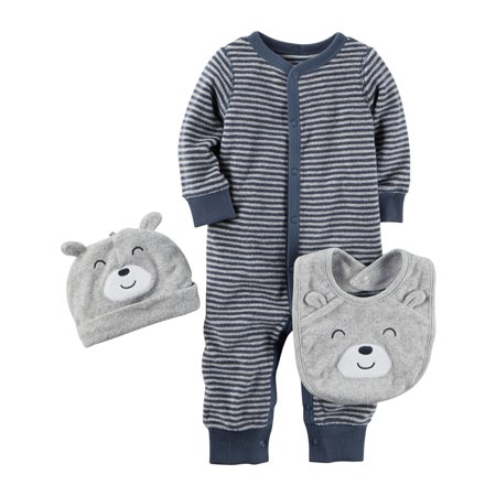 f0791e94806d Carters Baby Boys 3-Piece Terry Take-Me-Home Set Blue - Walmart.com