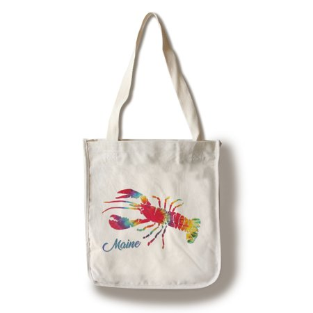 Tie Dye Bags (Maine - Lobster - Tie Dye - Lantern Press Artwork (100% Cotton Tote Bag -)