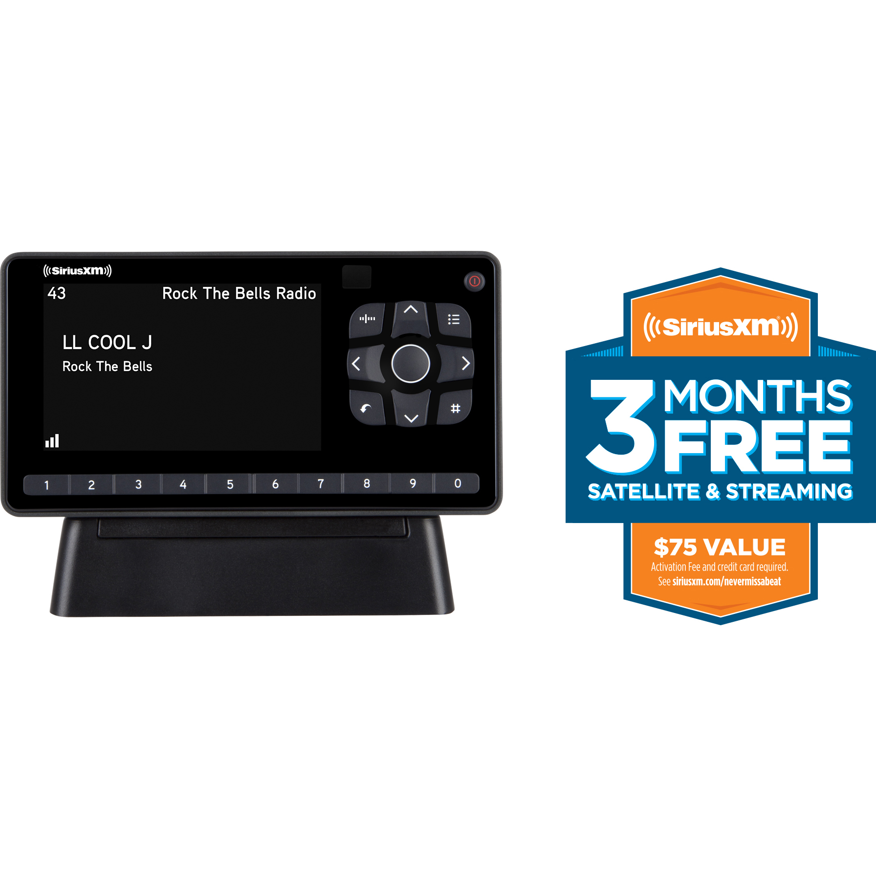 SiriusXM SXEZR1H1 XM Onyx EZR Satellite Radio with Free 3 Months Satellite and Streaming Service