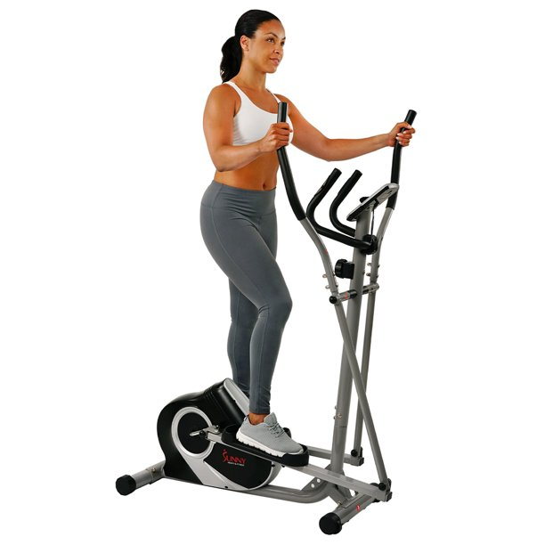 Sunny Health & Fitness Magnetic Ozone Elliptical Trainer Machine with Device Holder and Digital Display - SF-E3803