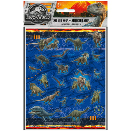 Jurassic World Sticker Sheets, -