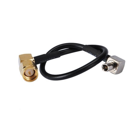 6 inch Rf Connector Sma Plug Right Angle to Ts9 Male Assembly Extension Coaxial Cable RG174 15cm for Wireless Antenna ()