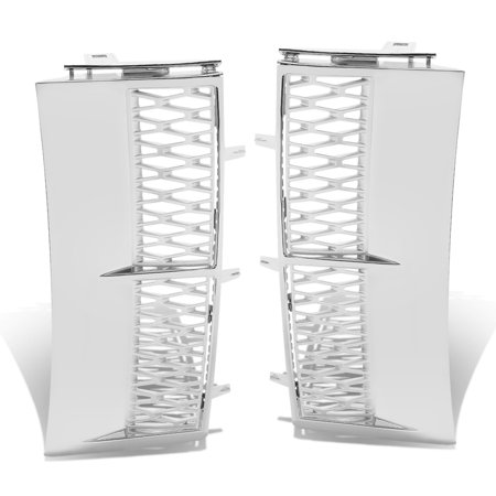 For 03-12 Land Rover Range Rover Side Vent Mesh Grille (Chrome Surface Silver Mesh) - L322 05 06 07 08 09 10 11