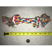 "Multi Colored Knotted Rope Bone Dog Toy Tough & Durable For Big Dogs Too !(10"" Rope Toy)"