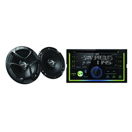 """JVC Mobile KW-R930BTS Double-DIN In-Dash CD Receiver & Siriusxm Ready & CS-J620 300w 6.5"""" 2-Way Coaxial Speakers"""
