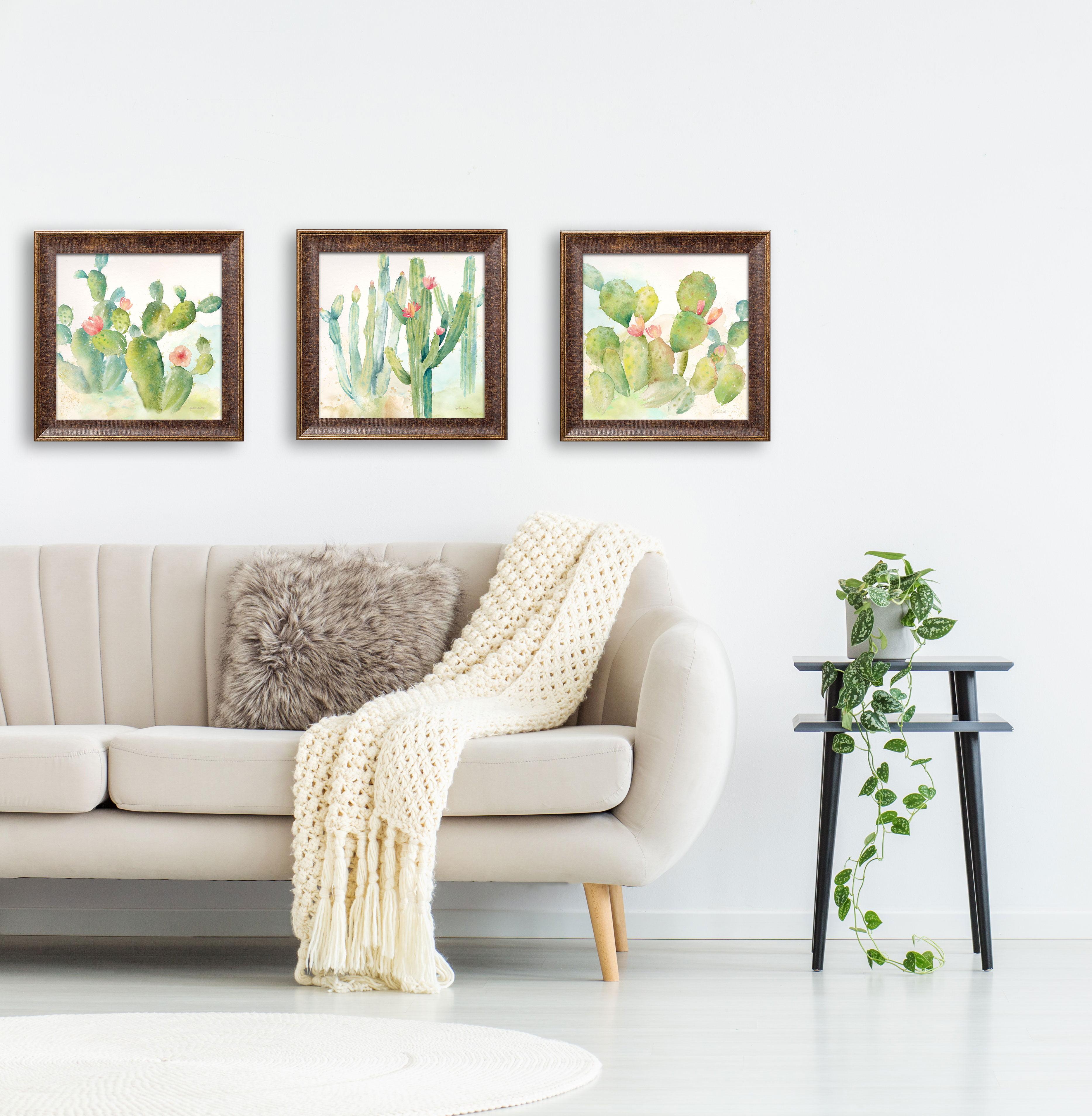 Travel Tourism Mexico Cactus Desert Sun Village 12X16 Inch Framed Art Print