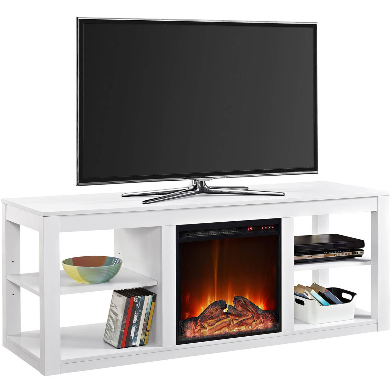 products floating geo eco mocha century woodwaves wall fireplace mount console mid tv stand modern