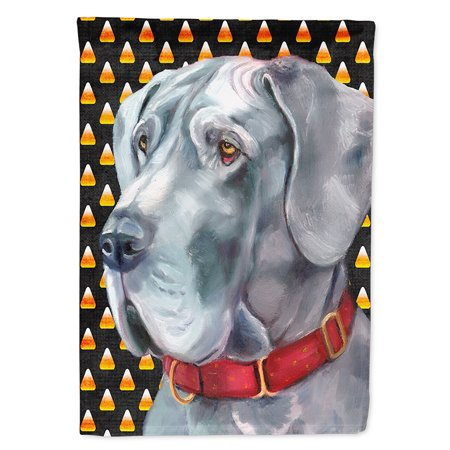Great Dane Candy Corn Halloween Flag Canvas House Size](Great Dane Horse Halloween)