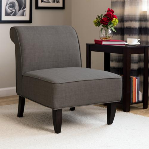 I Love Living Sadie Slipper Brown Derby Accent Chair