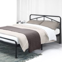 Best Price Mattress Frame-Glen 14 Inch Heavy Duty Metal Platform Bed w/Rounded Headboard Mattress Foundation