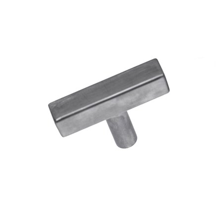 Pandora Hardware - Square Stainless Steel Bar Handle Brushed Nickel Cabinet Pull - Size 2