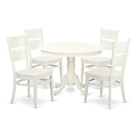 East West Furniture Hartland 5 Piece Modern Mission Dining Table Set