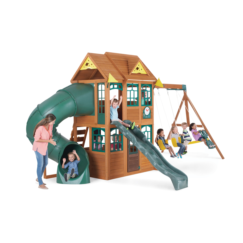 Charleston Lodge Wooden Swing Set by KidKraft by KidKraft