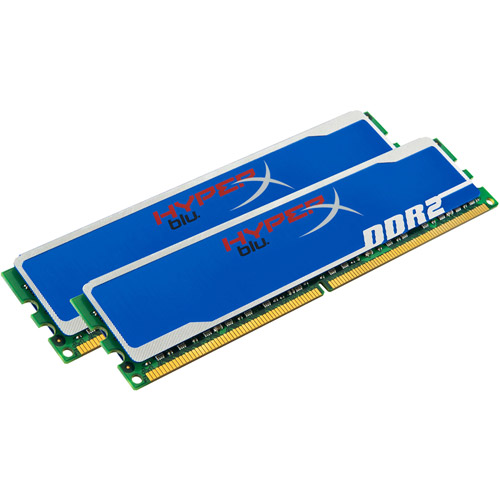 HyperX blu - DDR2 - 4 GB: 2 x 2 GB - DIMM 240-pin - 800 MHz / PC2-6400 - CL5 - 1.85 V - unbuffered - non-ECC