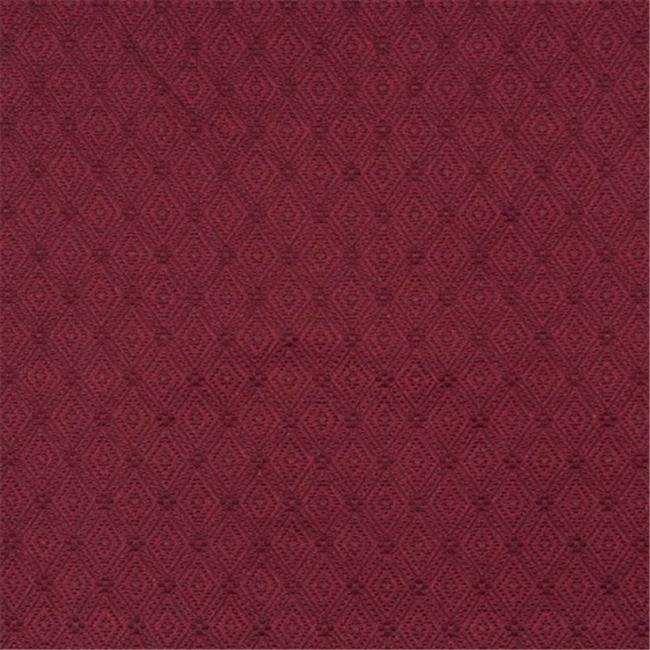 Designer Fabrics E563 54 in. Wide Burgundy, Diamond Jacquard Woven Upholstery Grade Fabric
