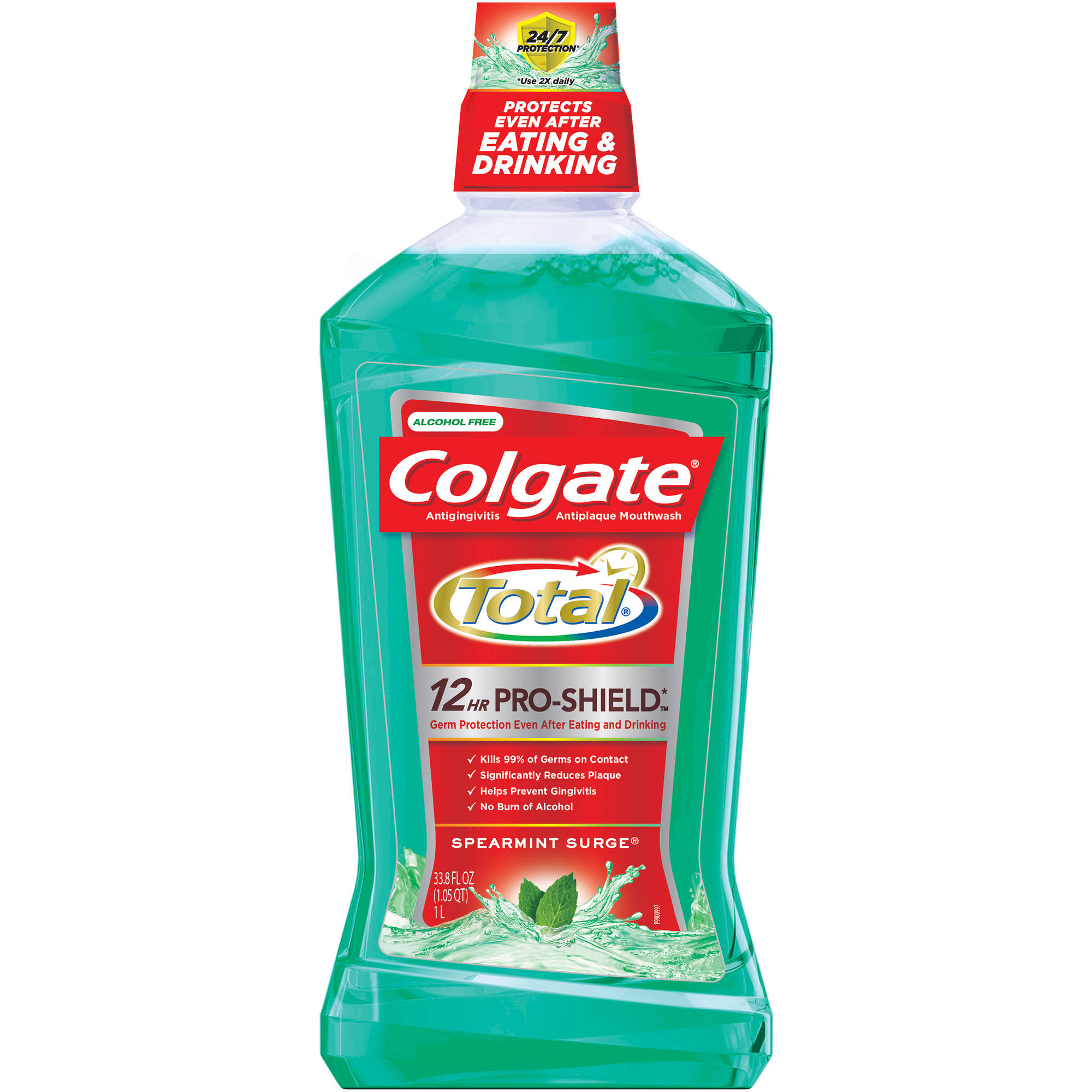 Colgate Total Advanced Pro-Shield Spearmint Surge Mouthwash, 33.8 fl oz