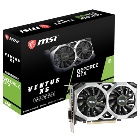 MSI GeForce GTX1650 VENTUS XS 4G OC 4GB DR5 128B HDMI/DLDVID Gaming Graphic