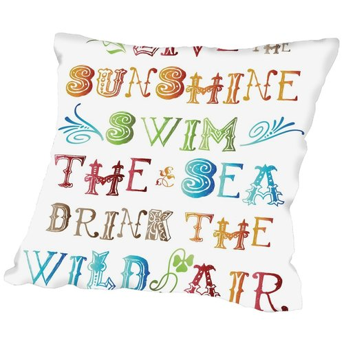 Bay Isle Home Jackson Live In the Sunshine Multi Throw Pillow