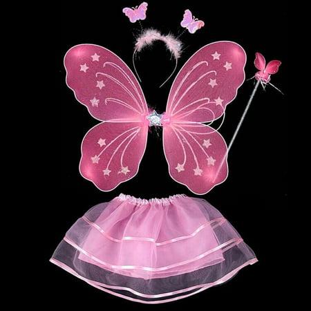 Halloween Wedding Dress Up Games (Girls Kids Fairy Wings Butterfly Fancy Dress Up Costume Party Wedding)