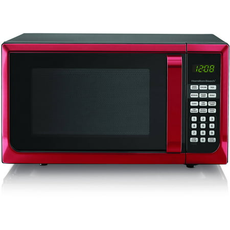 Hamilton Beach Stainless Steel 0.9 Cu. Ft. Red Microwave Oven