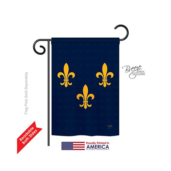 Breeze Decor 68004 Mardi Gras Midwest French American 2-Sided Impression Garden Flag - 13 x 18.5 in. - image 1 of 1