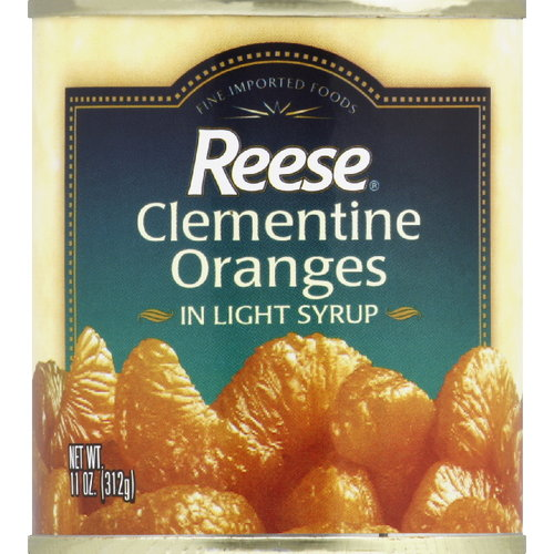 Reese Clementine Oranges In Light Syrup, 11 oz (Pack of 24)