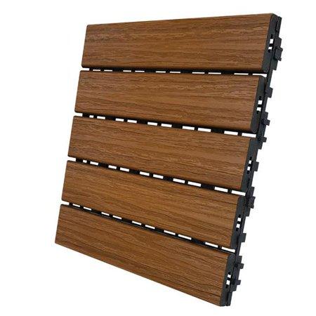 DECK TILE HNY TEAK 6PK Teak Deck Tiles