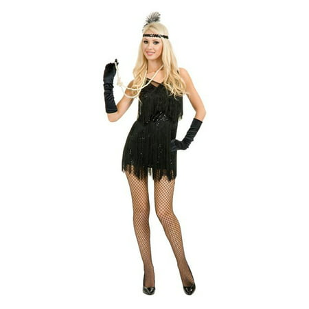 Adult Sexy Chicago Black Flapper Costume](Wit Chicago Halloween)