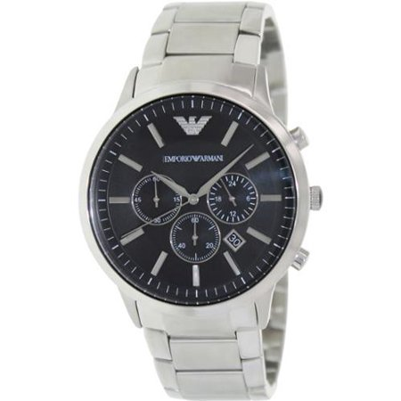 size 40 0f83f c9e15 Emporio Armani Men's Sportivo AR2460 Black Stainless-Steel Analog Quartz  Watch