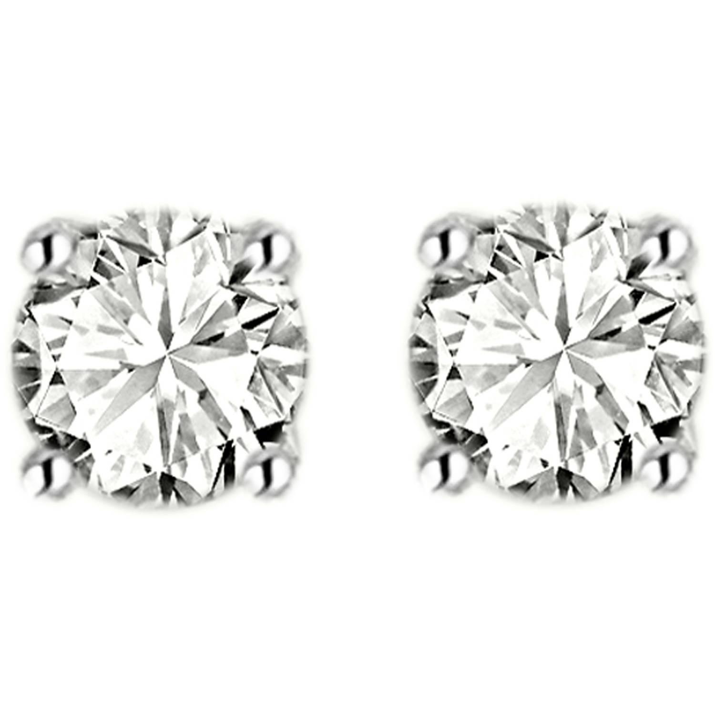 1 Carat T.W. Diamond 14kt White Gold Stud Earrings