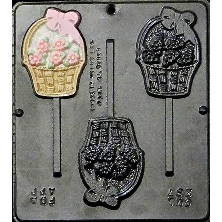 287 Flower Basket Lollipop Chocolate Candy Mold ()