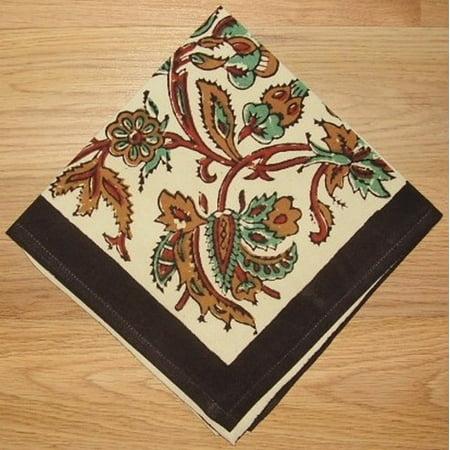 Kalamkari Block Print Cotton Table Napkin 16